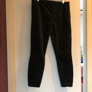 Side-zip velvet leggings